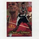 1996-97 Flair Showcase Basketball Row 1 #06 David Robinson - San Antonio Spurs