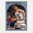 1990-91 Hoops Basketball #294 John Stockton - Utah Jazz