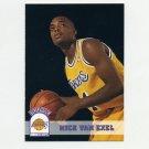 1993-94 Hoops Basketball #356 Nick Van Exel RC - Los Angeles Lakers