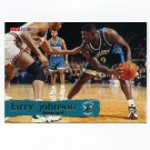 1995-96 Hoops Basketball #018 Larry Johnson - Charlotte Hornets