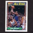 1992-93 Topps Basketball #123 Karl Malone AS - Utah Jazz