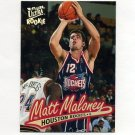 1996-97 Ultra Basketball #192 Matt Maloney RC - Houston Rockets