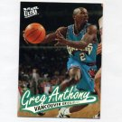 1996-97 Ultra Basketball #117 Greg Anthony - Vancouver Grizzlies