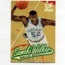 1996-97 Ultra Basketball #028 Samaki Walker RC - Dallas Mavericks