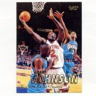 1997-98 Fleer Basketball #039 Larry Johnson - New York Knicks