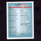 1993-94 Fleer Basketball #400 Checklist