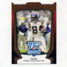 2010 Topps Draft 75th Anniversary Football #75DA06 Randy Moss - Minnesota Vikings