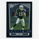 2007 Topps Draft Picks and Prospects Football Chrome Black #039 Randy Moss - Oakland Raiders