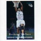 1995 Classic Basketball FOIL #092 Rasheed Wallace - North Carolina / Washington Bullets
