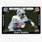 1993 Action Packed Monday Night Football Prototypes #MN1 Barry Sanders - Detroit Lions