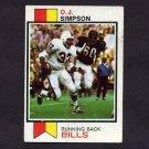 1973 Topps Football #500 O.J. Simpson - Buffalo Bills