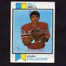 1973 Topps Football #411 Bill Bell K RC - Atlanta Falcons