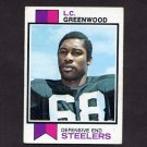 1973 Topps Football #165 L.C. Greenwood - Pittsburgh Steelers
