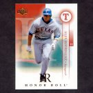 2003 Upper Deck Honor Roll Baseball #003 Alex Rodriguez - Texas Rangers
