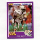 1989 Score Supplemental Football #429S Louis Oliver RC - Miami Dolphins
