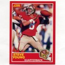 1989 Score Football #212 Steve Young - San Francisco 49ers