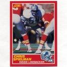 1989 Score Football #167 Chris Spielman RC - Detroit Lions