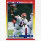 1990 Score Football #292 Andre Ware RC - Detroit Lions