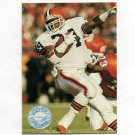 1991 Pro Set Platinum Football #020 Eric Metcalf - Cleveland Browns