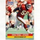 1991 Pro Set Spanish Football #107 Derrick Thomas - Kansas City Chiefs