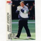 1992 Pro Set Football Gold MVPs #MVP30 Jimmy Johnson CO - Dallas Cowboys