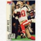 1992 Pro Set Football Gold MVPs #MVP27 Jerry Rice - San Francisco 49ers