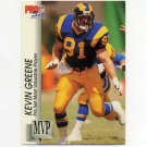 1992 Pro Set Football Gold MVPs #MVP21 Kevin Greene - Los Angeles Rams