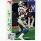 1992 Pro Set Football #659 Chris Warren - Seattle Seahawks