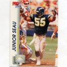 1992 Pro Set Football #643 Junior Seau - San Diego Chargers
