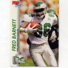1992 Pro Set Football #609 Fred Barnett - Philadelphia Eagles