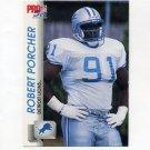 1992 Pro Set Football #497 Robert Porcher RC - Detroit Lions