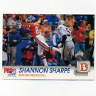 1992 Pro Set Football #487 Shannon Sharpe - Denver Broncos