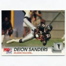 1992 Pro Set Football #434 Deion Sanders - Atlanta Falcons