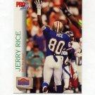 1992 Pro Set Football #418 Jerry Rice PB - San Francisco 49ers