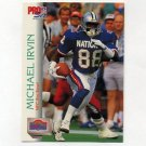 1992 Pro Set Football #409 Michael Irvin PB - Dallas Cowboys