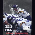 1993 Power Football Draft Picks #16 Gino Torretta - Minnesota Vikings