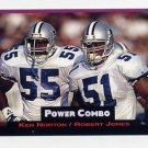 1993 Power Football Power Combos #9 Ken Norton / Robert Jones - Dallas Cowboys