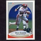 1990 Fleer Football #382 Deion Sanders UER - Atlanta Falcons