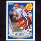 1990 Fleer Football #347 Jeff George RC - Indianapolis Colts