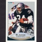 1990 Fleer Football #256 Bo Jackson - Los Angeles Raiders