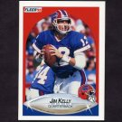 1990 Fleer Football #113 Jim Kelly - Buffalo Bills