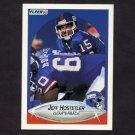 1990 Fleer Football #067 Jeff Hostetler RC - New York Giants