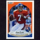 1990 Fleer Football #021 John Elway - Denver Broncos
