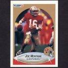 1990 Fleer Football #010B Joe Montana COR - San Francisco 49ers