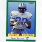 1991 Fleer Football #415 Barry Sanders LL - Detroit Lions