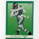 1991 Fleer Football #323 Fred Barnett - Philadelphia Eagles