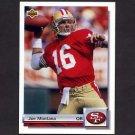 1992 Upper Deck Football Gold #G36 Joe Montana - San Francisco 49ers