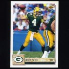 1992 Upper Deck Football #484 Brett Favre - Green Bay Packers