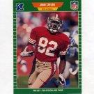 1989 Pro Set Football #384 John Taylor RC - San Francisco 49ers