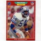 1989 Pro Set Football #125 Chris Spielman RC - Detroit Lions